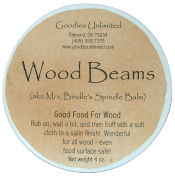 beeswax and oil rub for wood care